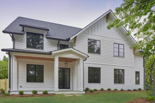 New Homes Brookhaven GA | Exterior By Architect Stephen Fuller | Transitional Style
